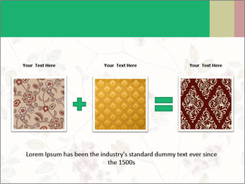 Vintage Floral Pattern PowerPoint Template - Slide 22