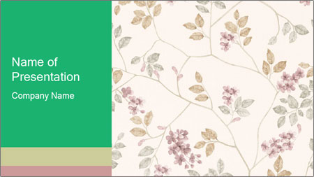 Vintage Floral Pattern PowerPoint Template - Slide 1