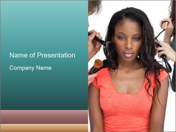 African Super Model PowerPoint Template - Slide 1