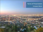 Aerial View Of Los Angeles PowerPoint Template