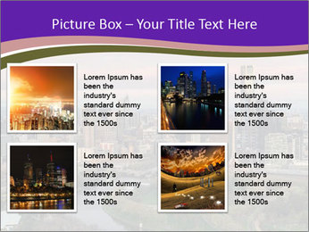 Aerial View Of Melbourne PowerPoint Template - Slide 14