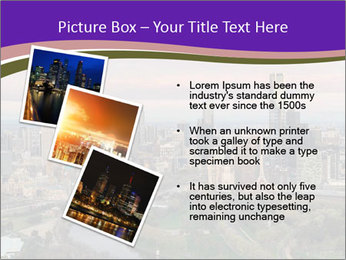 Aerial View Of Melbourne PowerPoint Template - Slide 17