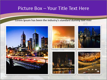 Aerial View Of Melbourne PowerPoint Template - Slide 19