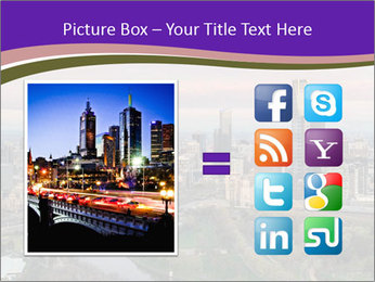 Aerial View Of Melbourne PowerPoint Template - Slide 21
