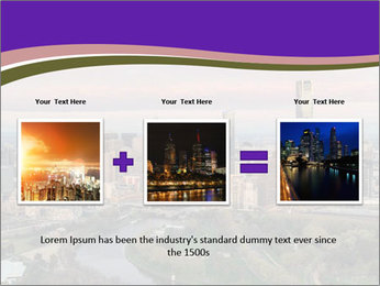 Aerial View Of Melbourne PowerPoint Template - Slide 22