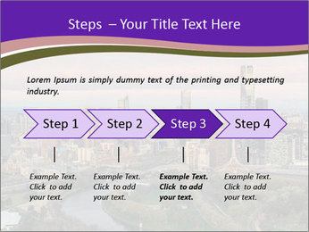 Aerial View Of Melbourne PowerPoint Template - Slide 4