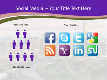 Aerial View Of Melbourne PowerPoint Template - Slide 5
