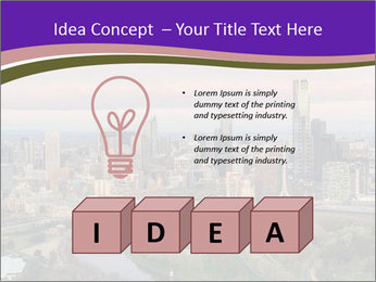 Aerial View Of Melbourne PowerPoint Template - Slide 80