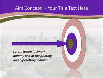 Aerial View Of Melbourne PowerPoint Template - Slide 83