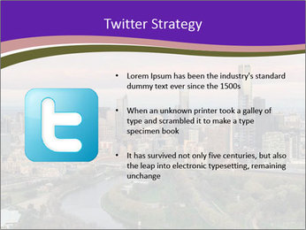 Aerial View Of Melbourne PowerPoint Template - Slide 9