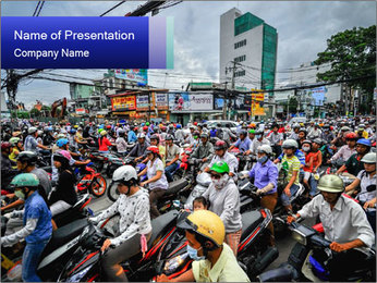 Motorcycles PowerPoint Template - Slide 1