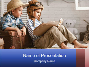 Preschool Boys PowerPoint Template - Slide 1
