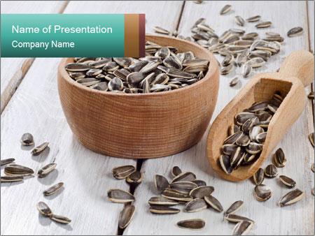 Organic Sunflower Seeds PowerPoint Template