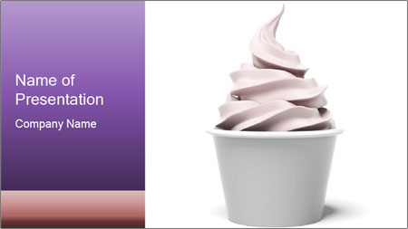 lilac ice cream powerpoint template backgrounds google slides