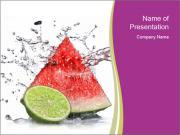 Watermelon And Lime PowerPoint Template