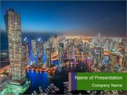 City Aerial Landscape PowerPoint Template