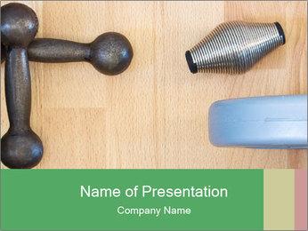 Home Barbells PowerPoint Template - Slide 1