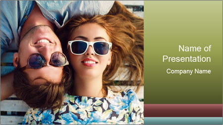 Romantic Couple PowerPoint Template