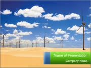 Dunas And Windmills PowerPoint Template