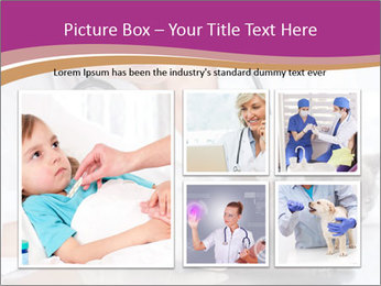 Woman Veterinarian With Kitten PowerPoint Template - Slide 19