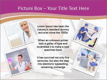 Woman Veterinarian With Kitten PowerPoint Template - Slide 24
