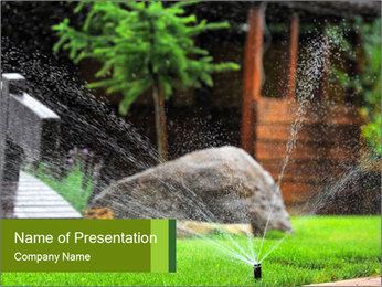 Yard Water System PowerPoint Template - Slide 1