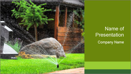 Yard Water System PowerPoint Template