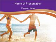 Couple And Beach PowerPoint Template