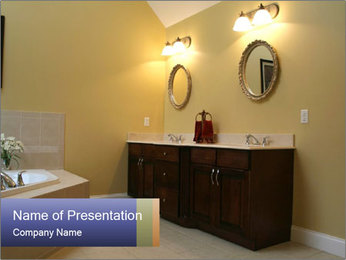 Luxury Bathroom PowerPoint Template - Slide 1