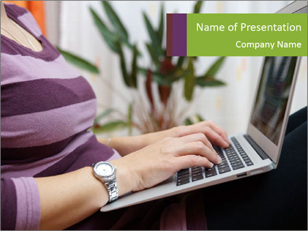 Woman Freelancer PowerPoint Template