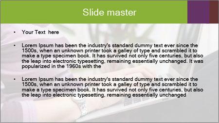 Woman Freelancer PowerPoint Template - Slide 2