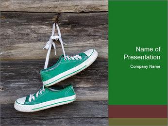 Green Converse PowerPoint Template - Slide 1