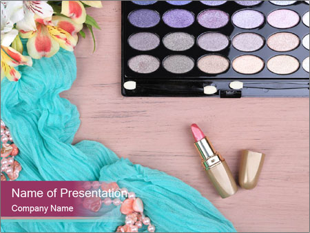 Eye Shadow Set PowerPoint Template