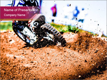 Motocross PowerPoint Template - Slide 1