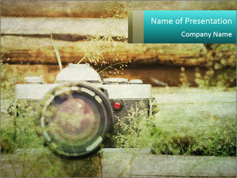 Retro Camera PowerPoint Template - Slide 1