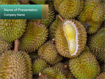 Thai Fruits PowerPoint Template - Slide 1