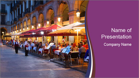 Street Cafe PowerPoint Template