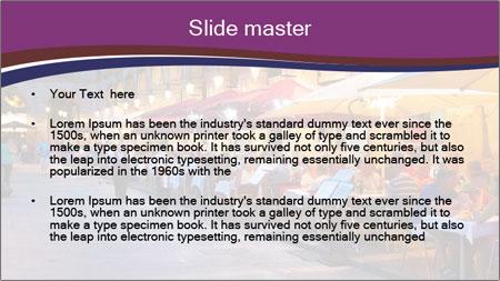 Street Cafe PowerPoint Template - Slide 2