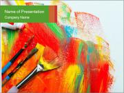 Abstract Art School PowerPoint Template