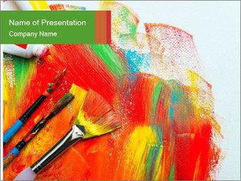 Abstract Art School PowerPoint Template - Slide 1
