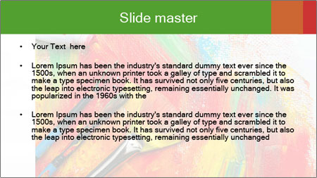 Abstract Art School PowerPoint Template - Slide 2