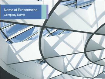 Futuristic Roofing PowerPoint Template - Slide 1