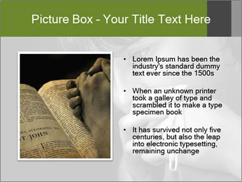 Praying Woman PowerPoint Template - Slide 13