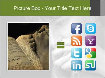 Praying Woman PowerPoint Template - Slide 21