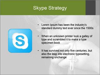 Praying Woman PowerPoint Template - Slide 8