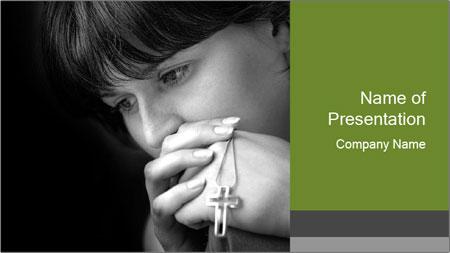 Praying Woman PowerPoint Template