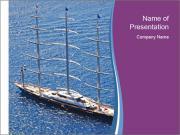 Huge Boat PowerPoint Template