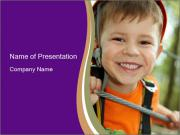 Smiling Boy PowerPoint Template