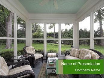 Livingroom Interior Design PowerPoint Template - Slide 1