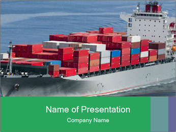 Shipping Business PowerPoint Template - Slide 1